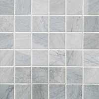 Victoria Grey Dark Brushed Marble Mosaic Wall and Floor Tile - 2 in