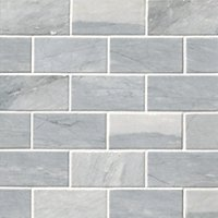 Victoria Grey Dark Brushed Amalfi Marble Wall and Floor Tile