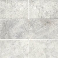 Siberian Pearl Brushed Marble Wall and Floor Tile - 4 x 12 in