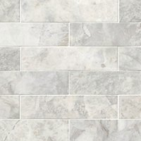 Siberian Pearl Brushed Marble Wall and Floor Tile - 2 x 8 in