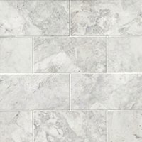 Siberian Pearl Brushed Marble Wall and Floor Tile - 3 x 6 in