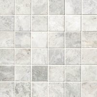 Siberian Pearl Brushed Marble Mosaic Wall and Floor Tile - 2 x 2 in