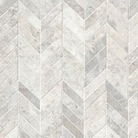 Siberian Pearl Brushed Chevron Marble Mosaic Wall and Floor Tile