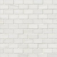 Bianco Puro Honed Marble Cardine Mosaic Wall and Floor Tile