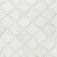 Bianco Puro Honed Marble Arabesque Mosaic Wall and Floor Tile