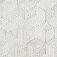 Bianco Puro Combed Hexagons Honed Marble Mosaic Wall Tile