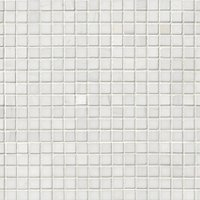 Bianco Puro Honed Marble Mosaic Wall and Floor Tile - .625 x .625 in
