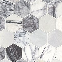 Milas Lilac Polished Marble Hex Mosaic Wall and Floor Tile - 5 in