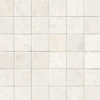 Arctic White Brushed Marble Mosaic Wall and Floor Tile - 2 x 2 in