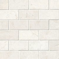 Arctic White Brushed Marble Amalfi Mosaic Wall and Floor Tile
