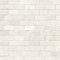 Arctic White Brushed Marble Cardine Mosaic Wall and Floor Tile