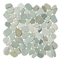 Sliced Green Pebbles 12 x 12 in