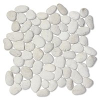 White Pebbles Medium 12 x 12 in
