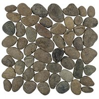 Borneo Brown Pebbles Medium Mosaic Floor Tile