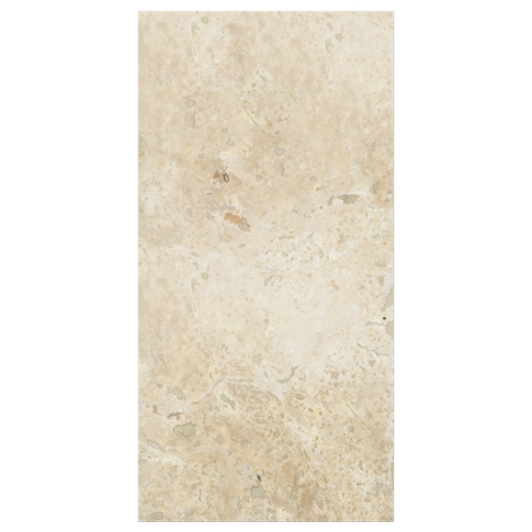 Chiaro Honed Filled Travertine Wall and Floor Tile - 12 x 24 in