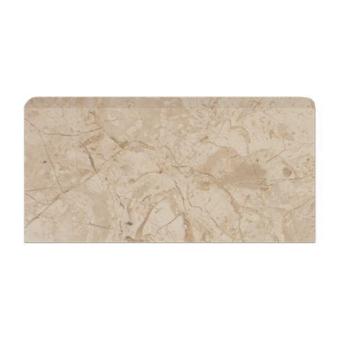 Creme Nova REL Single Bullnose Long Side Marble Wall Tile - 3 x 6 in