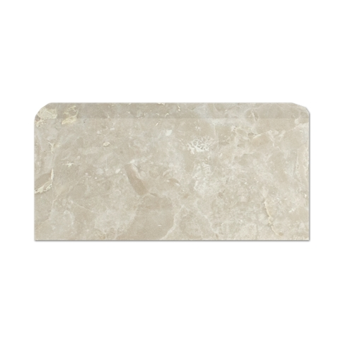 Saka Beige REL Single Bullnose Long Side Marble Wall Tile - 3 x 6 in