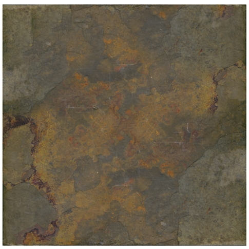 Copper Rust Slate Wall and Floor Tile - 16 x 16 in