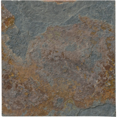 Copper Rust Slate Mosaic Tile - 4 in.