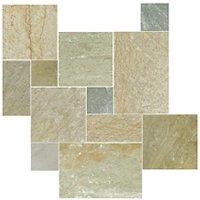 Baoding Crème Small Versailles Pattern Quartzite Floor Tile