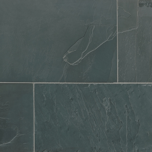 Adoni Black Slate Floor Tile - 16 x 24 in.