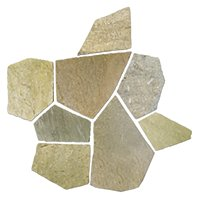 Baoding Crème Broken Random Quartzite Floor Tile - 20.8 in.