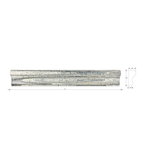 Zeera Green Polished Barnes Quartzite Wall Tile Trim - 12 in