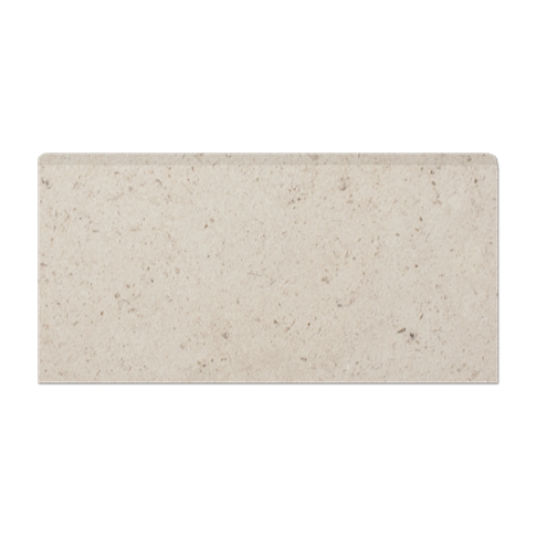 Creme Fatima REL Single Bullnose Long Side Marble Wall Tile Trim - 3 x 6 in