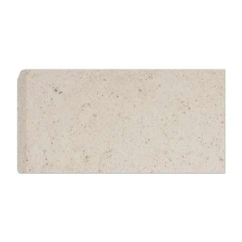 Creme Fatima RES (Single Bullnose Short Side) 3 x 6 in