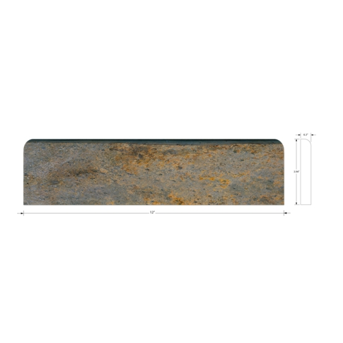 Copper Rust Base Slate Wall Tile Trim - 4 x 12 in