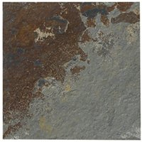 Copper Rust Slate Mosaic Wall and Floor Tile - 6 x 6 in