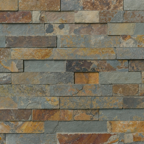 Copper Rust Random Rectified Slate Wall Tile - 6.3 x 23.5 in