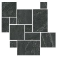 Adoni Black Large Versailles Pattern Slate Wall and Floor Tile