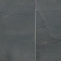 Adoni Black Slate Floor Tile - 16 x 16 in.