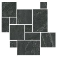 Adoni Black Small Versailles Pattern Slate Floor Tile
