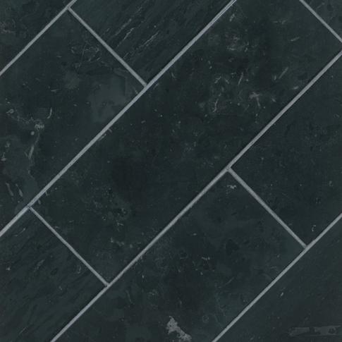 Noir Honed Travertine Floor Tile - 8 x 24 in.