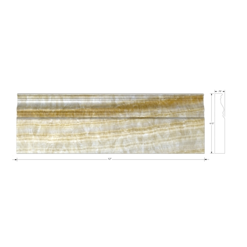 Honey Onyx Sable Skirting Wall and Floor Tile Trim - 12 in