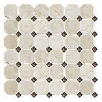 Bisbane Evanston Octagon Marble Wall and Floor Tile - 12 x 12 in