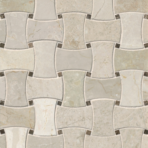 Bisbane Delray Marble Mosaic Wall and Floor Tile - 10 x 10 in