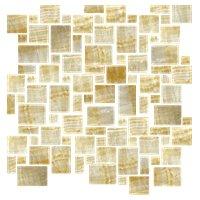 Honey Onyx Sable Crème Mini Versailles Onyx Mosaic Tile - 12 in.