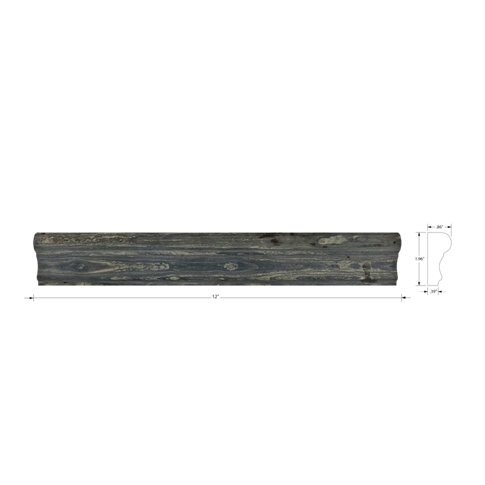 Copper Rust Barnes Slate Wall Tile Trim - 2 x 12 in