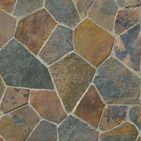Copper Rust Broken Random 20.8 x 20.8 in