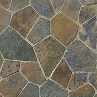 Copper Rust Broken Random Slate Wall and Floor Tile - 20.8 x 20.8 in