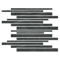 Adoni Black Corinth Slate Wall and Floor Tile - 12 x 12 in