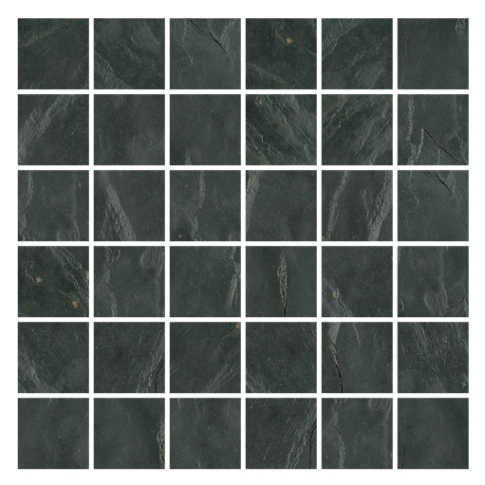 Adoni Black Slate Wall and Floor Tile - 2 x 2 in