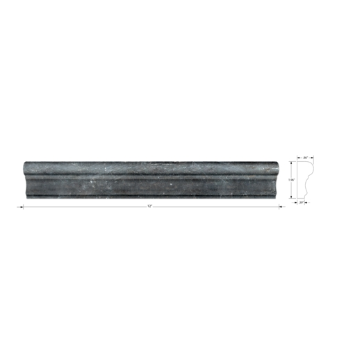 Adoni Black Barnes Slate Wall Tile Trim - 2 x 12 in