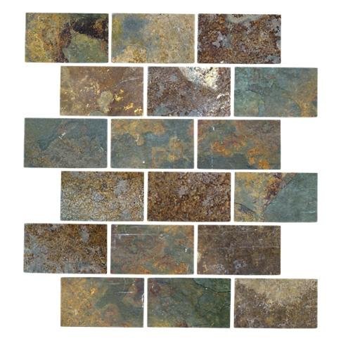 Copper Rust Amalfi Slate Wall and Floor Tile - 12 x 12 in