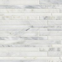 Hampton Carrara Corinth Marble Mosaic Tile - 12 x 12 in.