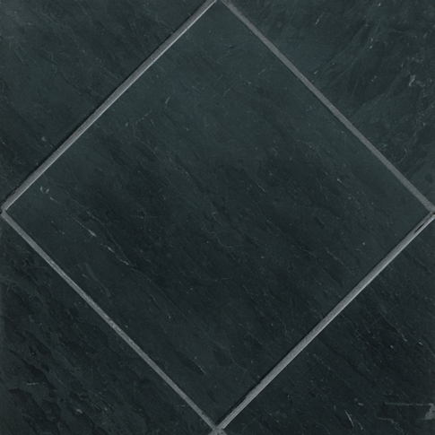 Noir Honed Travertine Wall and Floor Tile - 12 x 12 in