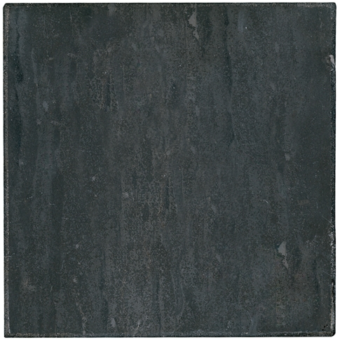 Noir Honed Travertine Wall and Floor Tile - 18 x 18 in